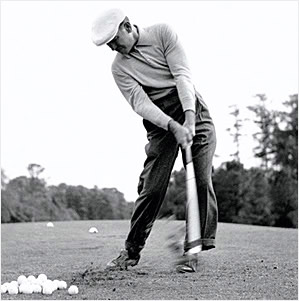 Ben Hogan digs it out of the dirt!