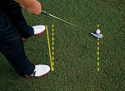 Great way to setup for chip shots.