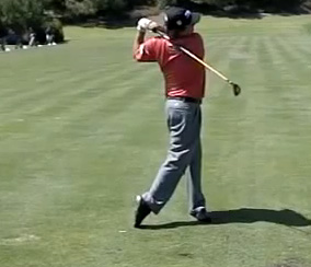 Jason Dufner in his finish position