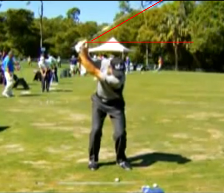 Jim Furyk rerouting his club way before parallel.
