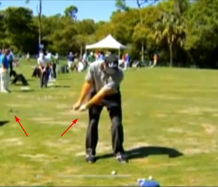 Jim Furyk doesn't rotate the clubhead much during takeaway.