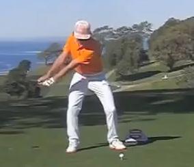 Rickie Fowler performing his takeaway.