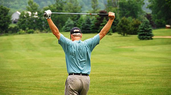 back pain when playing golf