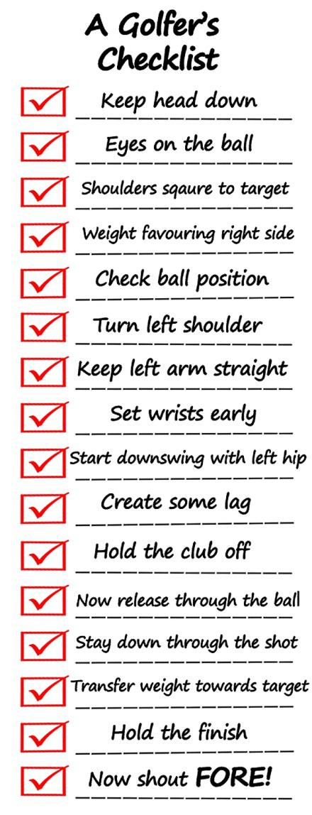 A Golfer's Checklist