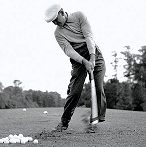 Ben Hogan in his post impact position.