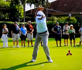 Fred Couples Past Parallel in his Backswing