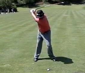 Jason Dufner at the top of his backswing