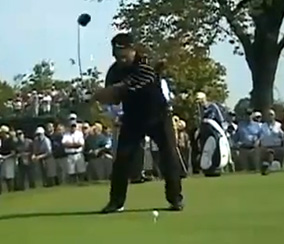 K.J. Choi in his downswing.