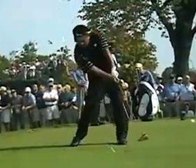 K.J. Choi just after the moment of truth.