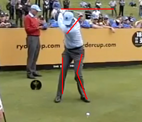 Matt Kuchar at the top of his backswing.
