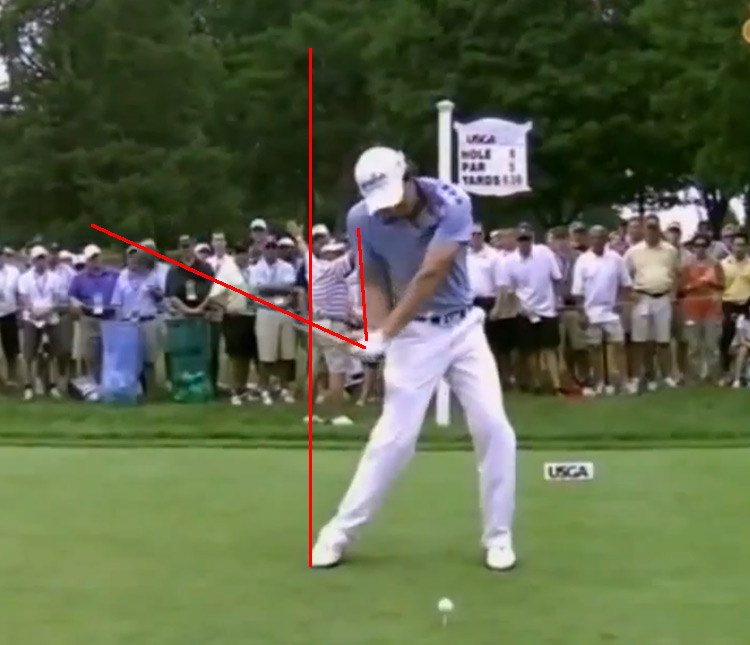 Rory compresses during his down swing and keeps hist wrist angle.