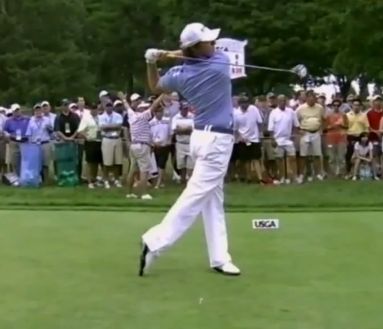 Rory finishes strong and balanced with his weight on his left leg.