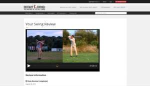 The swing analysis of your golf swing is great value for your money.