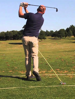 Great drill to practice keeping the proper swing plane.