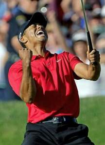 Tiger Woods winning the US Open in 2008