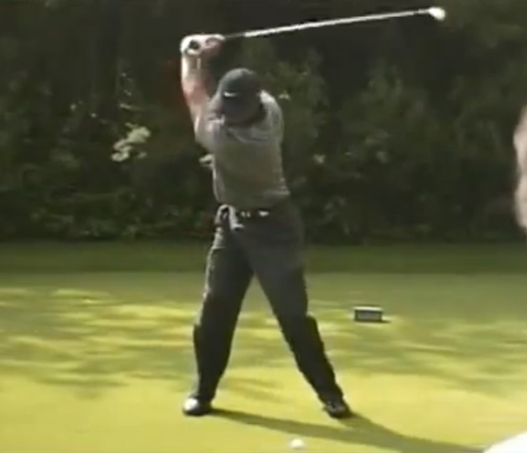 Tiger Woods Backswing, 2001