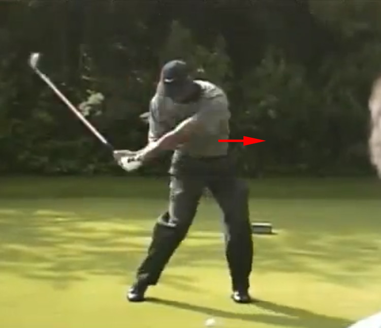 Tiger Woods downswing, 2001